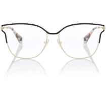 Sonnenbrille mit Schildpattdetails
