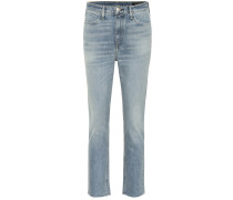 Mid-Rise Slim Jeans