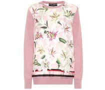 Bedruckter Pullover aus Seide
