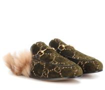Slippers Princetown aus Samt