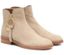 Verzierte Ankle Boots Louise Flat