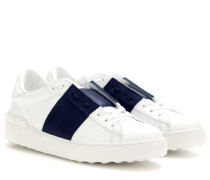 Sneakers Open aus Leder