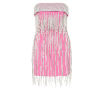 Verziertes Minikleid aus Wolle
