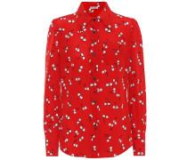 Bedruckte Bluse aus Seide