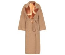 Mantel aus Wolle und Satin
