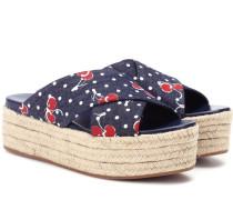 Espadrille-Sandalen aus Denim