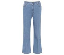 Cropped Jeans aus Stretch-Baumwolle