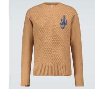 Bestickter Pullover Darning aus Wolle