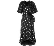 Gepunktetes Kleid aus Seidensatin