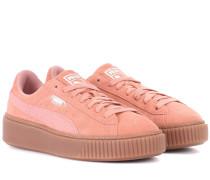 Sneakers Basket Platform aus Veloursleder