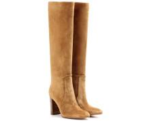 Kniehohe Stiefel aus Veloursleder