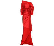 Drapierte Robe aus Satin