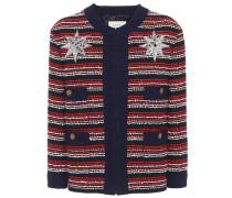 Verzierte Jacke aus Bouclé