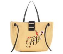 Shopper Viv' Blooming RV aus Bast und Leder