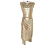 Minikleid aus Metallic-Mesh