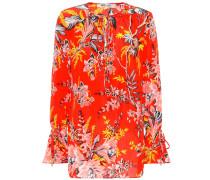 Bedruckte Bluse aus Seidencrêpe