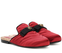 Slippers Princetown aus Satin