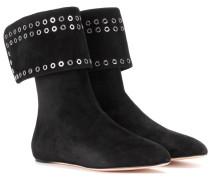 Alexander McQueen Ankle Boots aus Veloursleder