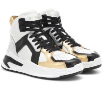 High-Top-Sneakers BBall aus Leder