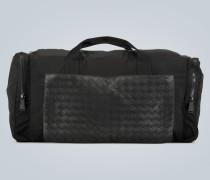 Reisetasche mit Intrecciato-Detail