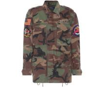 Verzierte Army-Jacke aus Baumwolle