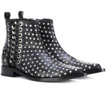 Alexander McQueen Ankle Boots aus Leder mit Verzierungen