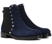Chelsea Boots Beatle Rockstud aus Veloursleder