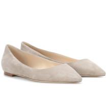 Ballerinas Romy Flat aus Veloursleder