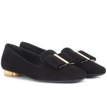 Loafers Sarno aus Veloursleder