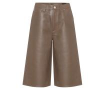High-Rise Shorts aus Leder