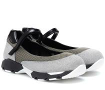 Sneakers mit Glitter und Mesh