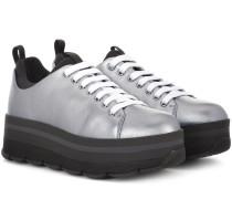 Sneakers Wave aus Metallic-Leder
