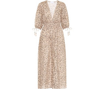 Bedrucktes Kleid Melody aus Leinen