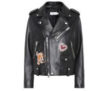 X Keith Haring Bikerjacke aus Leder