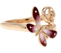 Ring Flora aus 18kt Roségold und Emaille