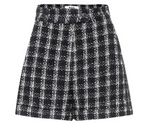 Karierte Shorts aus Tweed