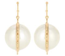 Ohrringe mit Perlen aus 24kt Gelbgold