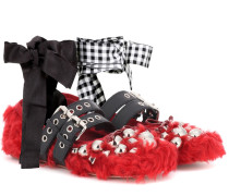 Ballerinas aus Faux Fur