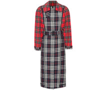 Karierter Mantel aus Baumwolle