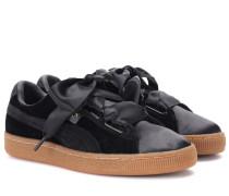 Sneakers Basket Heart aus Samt