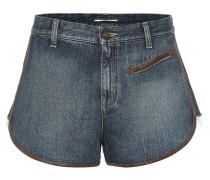 Shorts mit Lederdetails