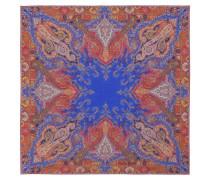 Bedruckter Schal aus Wolle und Seide