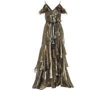 Off-Shoulder-Kleid aus Lamé