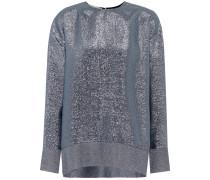 Pullover mit Metallic-Fäden