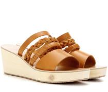 Wedge-Sandalen Helene aus Leder