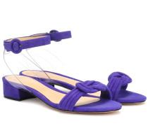 Sandalen Vicky aus Veloursleder