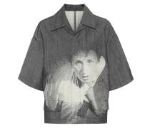 Bedrucktes Hemd aus Denim