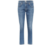 Slim-Fit Cropped Jeans Elsa