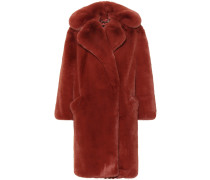 Oversize-Mantel aus Faux Fur