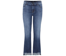Mid-Rise Bootcut Jeans Selena in Cropped-Länge